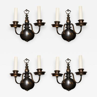 Set of Four Dutch Sconces