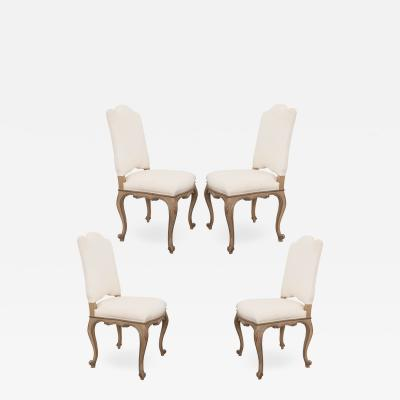 Set of Four French Louis XV Style Reproduction Dining Side Chairs