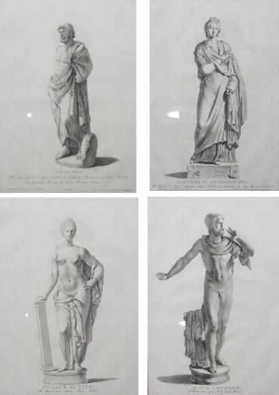 Set of Four Neo Classical Engraving