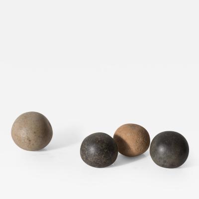 Set of Four Neolithic Stone Ritual Spheres Sahara Desert