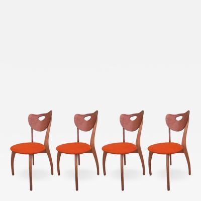 Set of Four Unusual Danish Modern Chairs