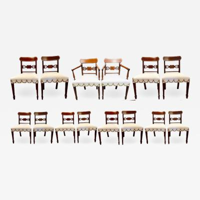 Set of Fourteen Period Sheridan Dining Chairs