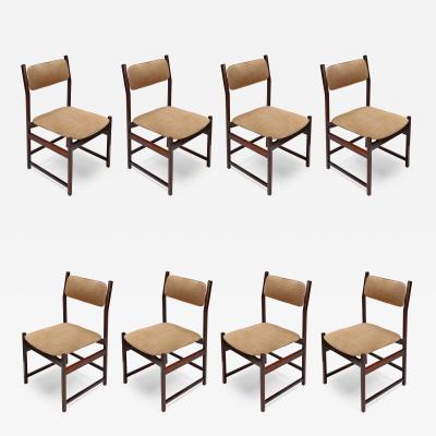Set of LAtelier Brazilian Jacaranda 1960s Dining Chairs