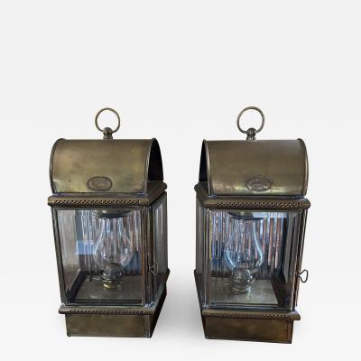 Set of Large English Ship Lanterns by Davey and Co