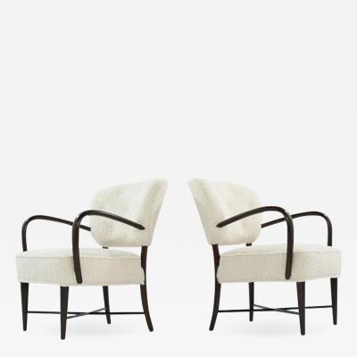 Set of Lounge Chairs in Boucl Italy C 1950s
