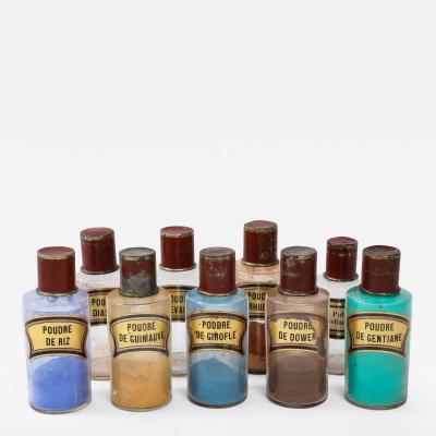 Set of Nine Pigment Jars