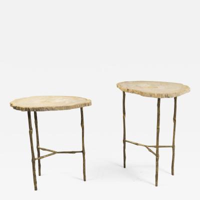 Set of Petrified Wood Tables France 2017