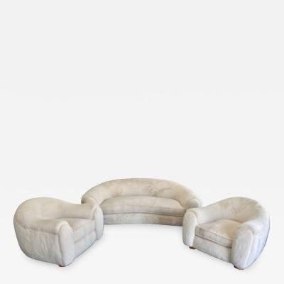 Set of Polar Sofa and Boule Armchairs by Jean Royere