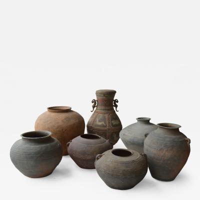 Set of Seven Zhou Dynasty Vases