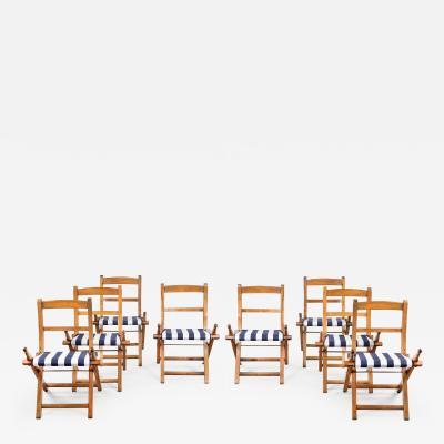 Set of Ships 1st Class Folding Chairs