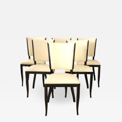 Set of Six Art Deco Dining Chairs France circa 1930