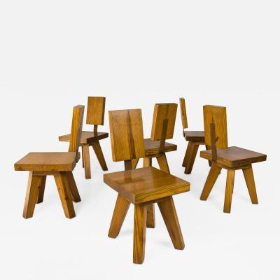 Set of Six Chairs circa 1960 France
