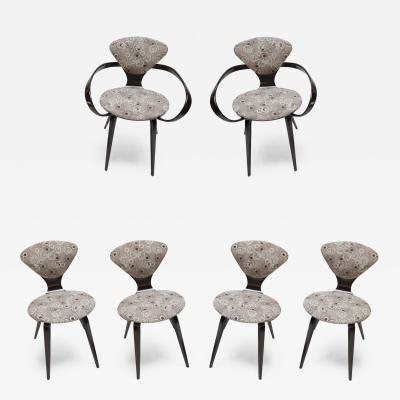 Set of Six Cherner for Plycraft Chairs