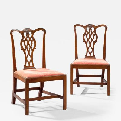 Set of Six Chippendale Side Chairs England Circa 1775