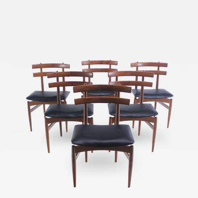 Set of Six Danish Modern Dining Chairs Designed by Poul Jundevad
