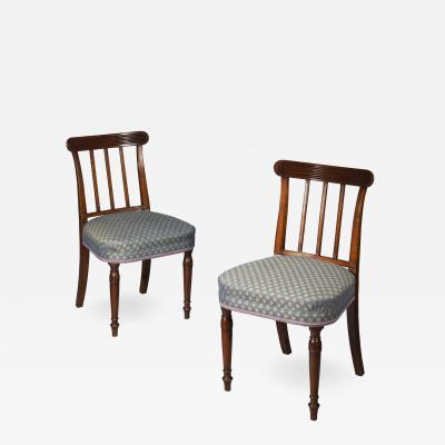 Set of Six George III Mahogany Dining Chairs