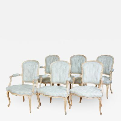 Set of Six Georgian Painted Armchairs