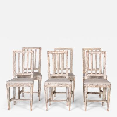 Set of Six Gustavian Chairs