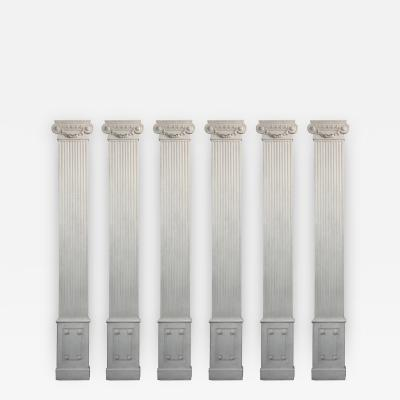 Set of Six Louis XVI Style Pilasters