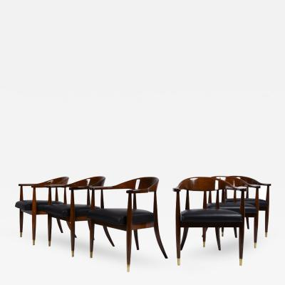 Set of Six Mid Century Modern style Dining Chairs