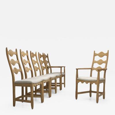 Set of Six Scandinavian Oak Dining Chairs Scandinavia ca 1950s