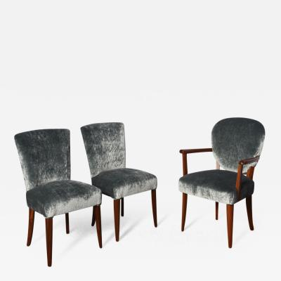 Set of Three Art Deco Chairs