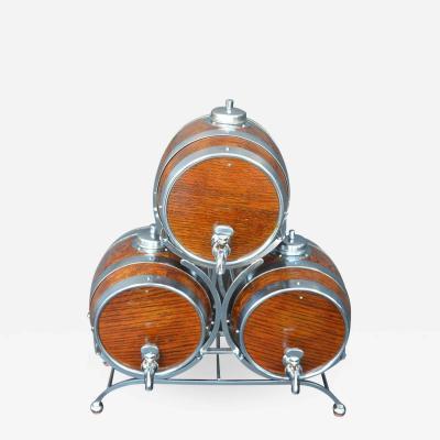 Set of Three Barrel Drink Dispensers by Nelcraft Nottingham