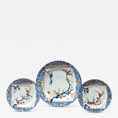 Set of Three Chinese Kangxi Yongzheng Plates