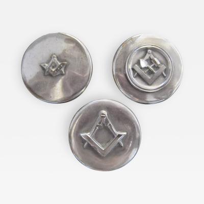Set of Three Masonic Silver Plated Keepsake Holders