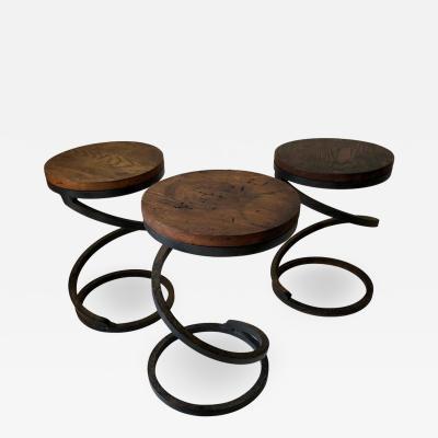 Set of Three Vintage Spring Tables