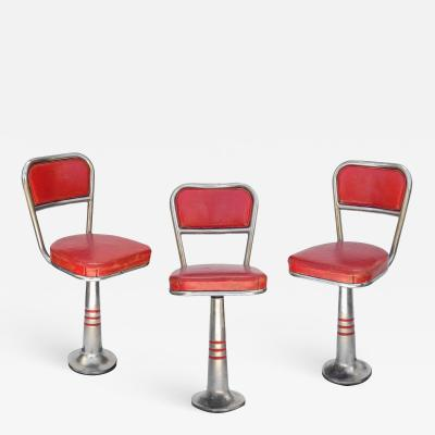 Set of Three Woolworth Counter Stools
