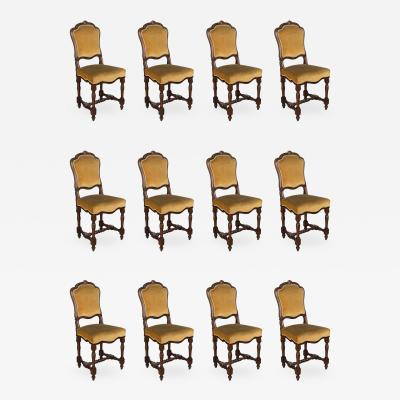 Set of Twelve 19th C Italian Dining Chairs