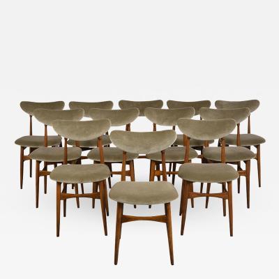 Set of Twelve Danish Style Dining Chairs