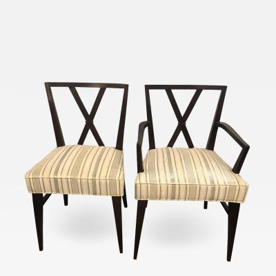 Set of Twelve Mid Century Fully Refinished Dining Chairs