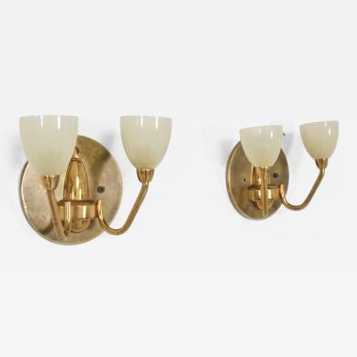 Set of Two 1950s Italian Brass Sconces
