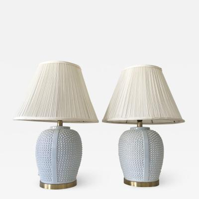 Set of Two Exceptional Mid Century Modern Ceramic Table Lamps Germany 1960s