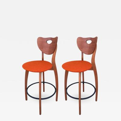 Set of Two Unusual Design Stools