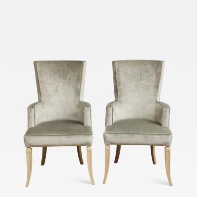Set of Velvet Dining Chairs