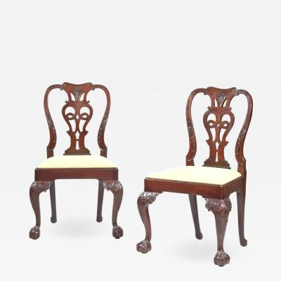 Set of eight Georgian dining chairs