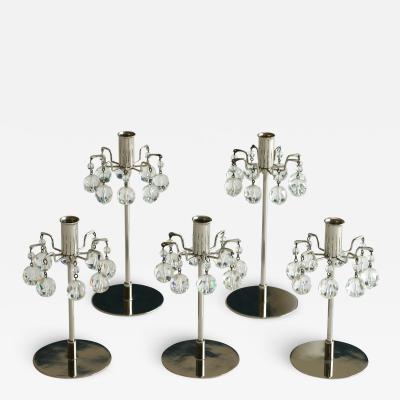 Set of five Vintage Lobmeyr Candlesticks