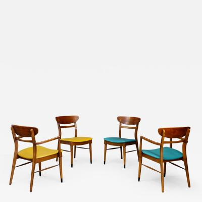Set of four American Mid Century dining Chairs 1950s