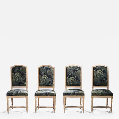 Set of four French Louis XV style chairs 1950s