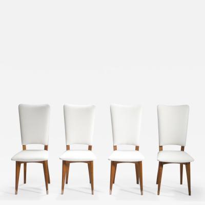 Set of four Mid century Scandinavian teak chairs 1960s