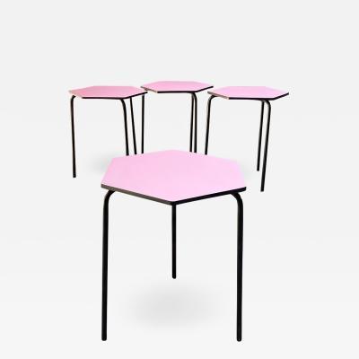 Set of hexagonal bar tables 1960s
