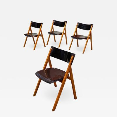 Set of oak chairs 1960s