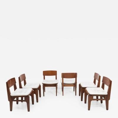 Set of six Italian chairs by Arc Vito Sangirardi for the Pallante shop Bari