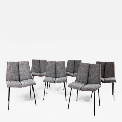 Set of six Pierre Guariche Quatre faces chairs