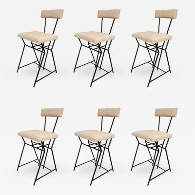 Set of six chairs in lacquered metal Italy 70