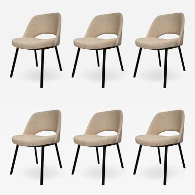 Set of six metal and indian silk dining chairs Italy 50