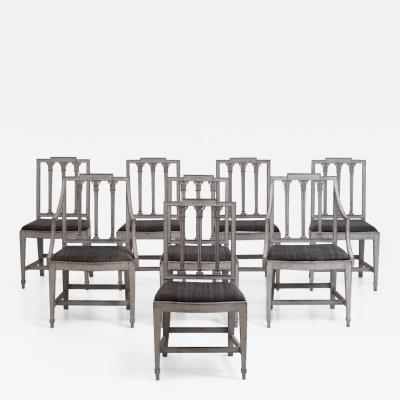 Set of two armchairs and six sidechairs circa 100 years old